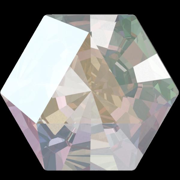 Swarovski 4699 Kaleidoscope Hexagon Fancy Stone Crystal AB 6x6.9mm