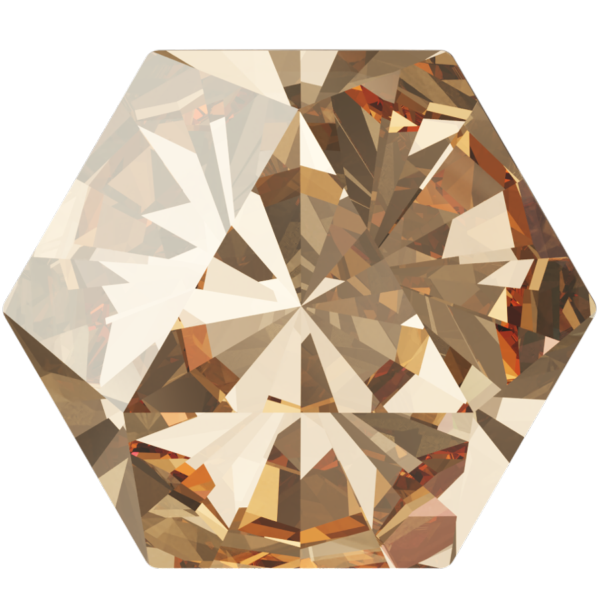 Swarovski 4699 Kaleidoscope Hexagon Fancy Stone Crystal Golden Shadow 6x6.9mm