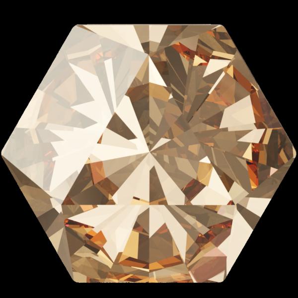 Swarovski 4699 Kaleidoscope Hexagon Fancy Stone Crystal Golden Shadow 14x16mm