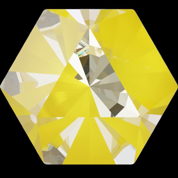 Swarovski 4699 Kaleidoscope Hexagon Fancy Stone Crystal Sunshine DeLite 9.4x10.8mm