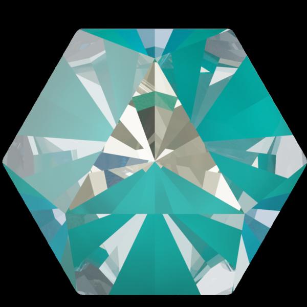 Swarovski 4699 Kaleidoscope Hexagon Fancy Stone Crystal Laguna DeLite 20x22.9mm