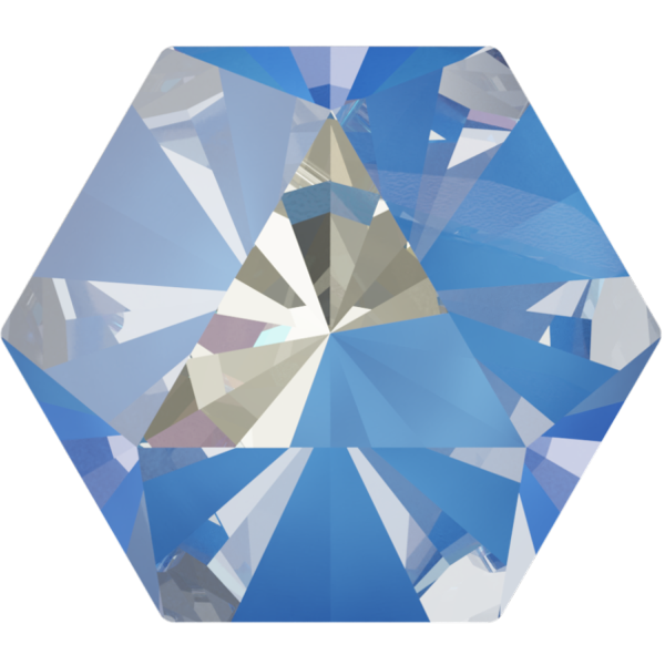 Swarovski 4699 Kaleidoscope Hexagon Fancy Stone Crystal Ocean DeLite 9.4x10.8mm