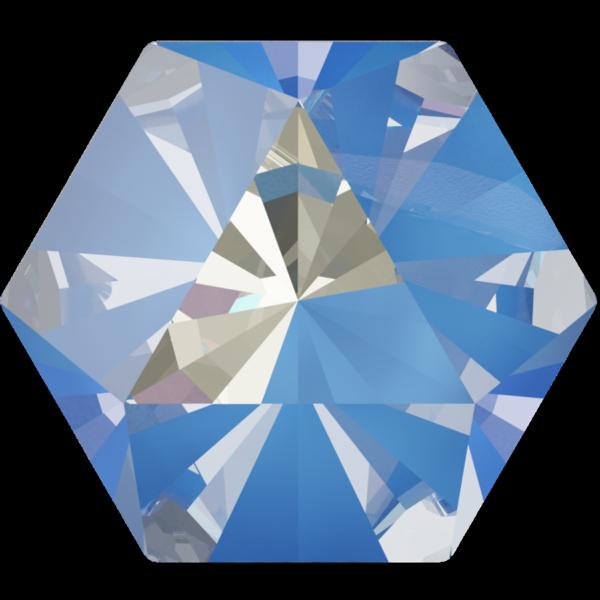 Swarovski 4699 Kaleidoscope Hexagon Fancy Stone Crystal Ocean DeLite 20x22.9mm