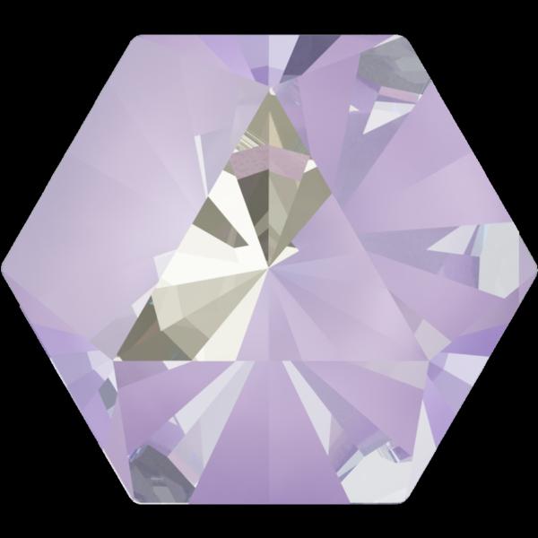 Swarovski 4699 Kaleidoscope Hexagon Fancy Stone Crystal Lavender DeLite 6x6.9mm