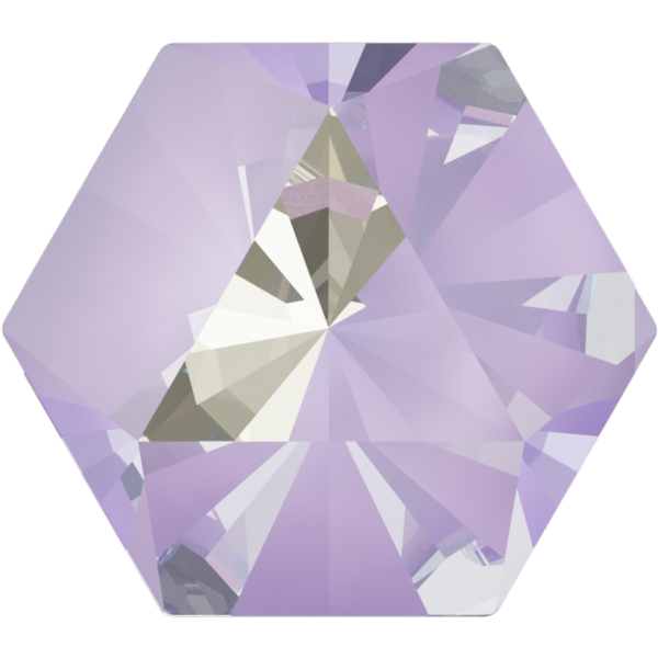 Swarovski 4699 Kaleidoscope Hexagon Fancy Stone Crystal Lavender DeLite 20x22.9mm