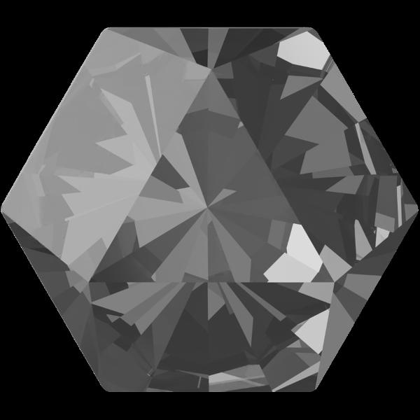 Swarovski 4699 Kaleidoscope Hexagon Fancy Stone Crystal Silver Night 9.4x10.8mm