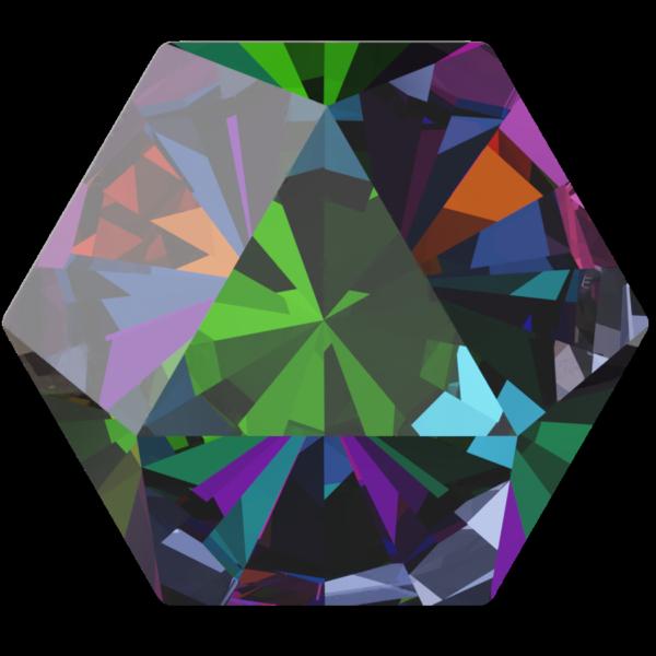 Swarovski 4699 Kaleidoscope Hexagon Fancy Stone Crystal Vitrail Medium 14x16mm