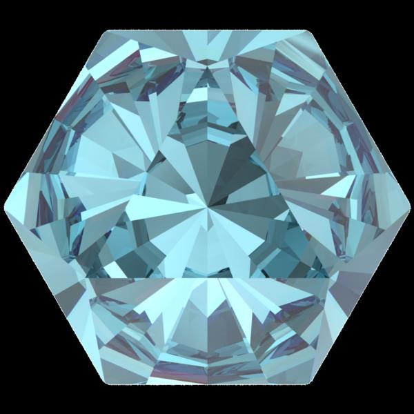 Swarovski 4699 Kaleidoscope Hexagon Fancy Stone Aquamarine 14x16mm