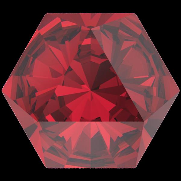 Swarovski 4699 Kaleidoscope Hexagon Fancy Stone Scarlet 9.4x10.8mm