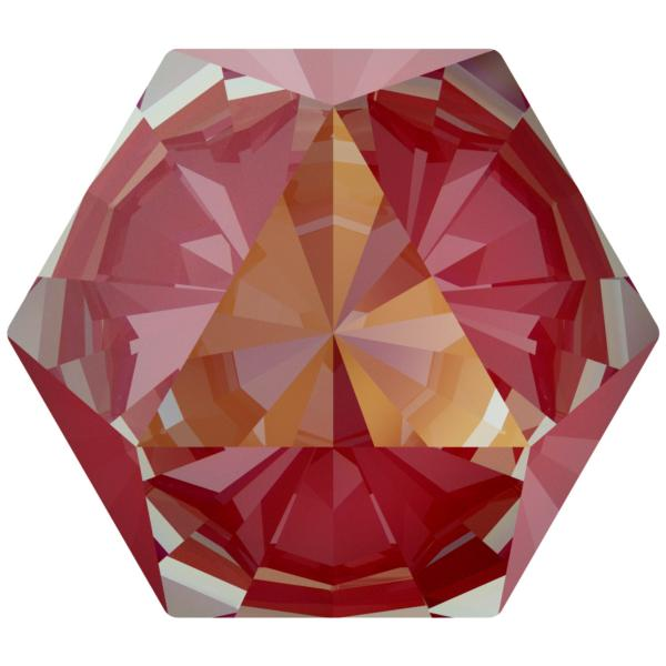Swarovski 4699 Kaleidoscope Hexagon Fancy Stone Crystal Royal Red DeLite 9.4x10.8mm
