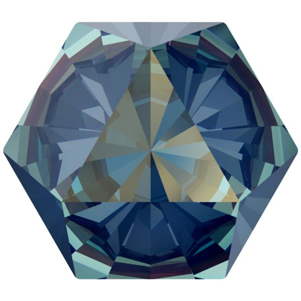 Swarovski 4699 Kaleidoscope Hexagon Fancy Stone Crystal Royal Blue DeLite 14x16mm