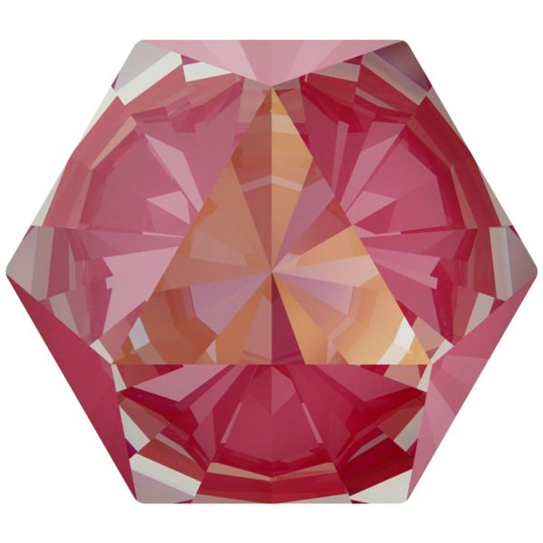 Swarovski 4699 Kaleidoscope Hexagon Fancy Stone Crystal Lotus Pink DeLite 14x16mm