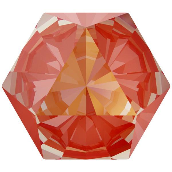 Swarovski 4699 Kaleidoscope Hexagon Fancy Stone Crystal Orange Glow DeLite 14x16mm