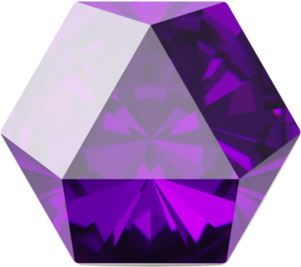 Swarovski 4699 Kaleidoscope Hexagon Fancy Stone Amethyst 20x22.9mm