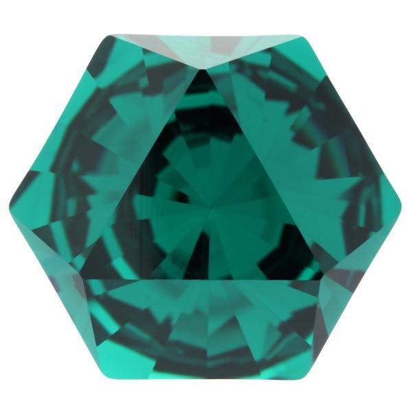 Swarovski 4699 Kaleidoscope Hexagon Fancy Stone Emerald 20x22.9mm