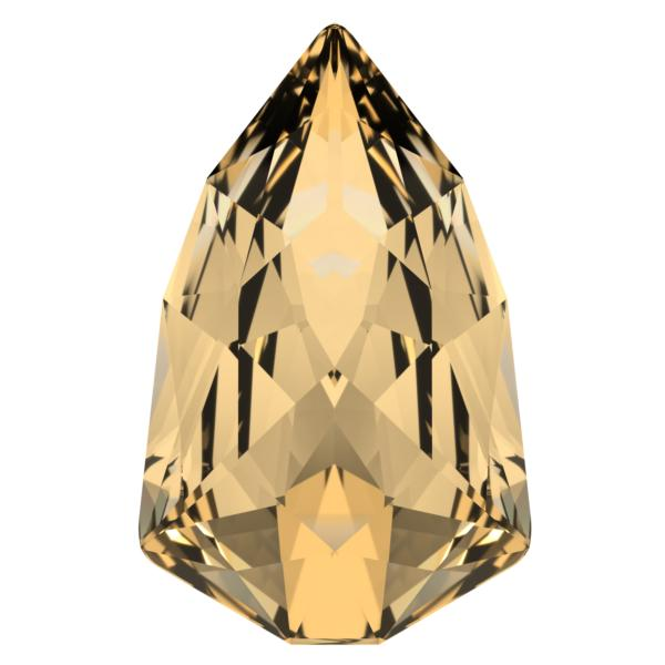 Swarovski 4707 Slim Trilliant Fancy Stone Crystal Golden Shadow 7.8x4.9mm
