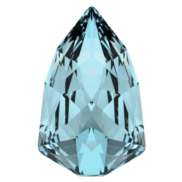 Swarovski 4707 Slim Trilliant Fancy Stone Aquamarine 13.6x8.6mm