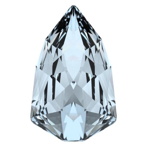 Swarovski 4707 Slim Trilliant Fancy Stone Crystal Blue Shade 13.6x8.6mm