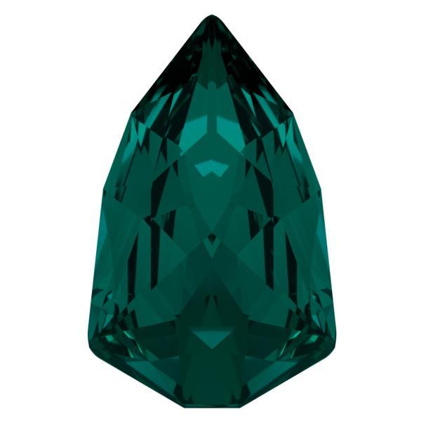 Swarovski 4707 Slim Trilliant Fancy Stone Emerald 13.6x8.6mm