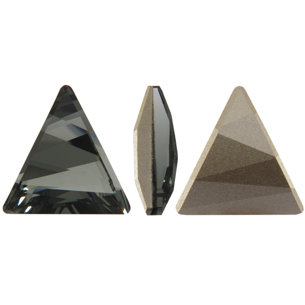 Swarovski 4717 Delta Fancy Stone Black Diamond 15.5mm