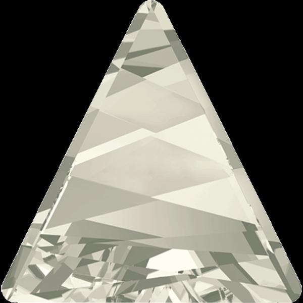 Swarovski 4717 Delta Fancy Stone Crystal Silver Shade 15.5mm