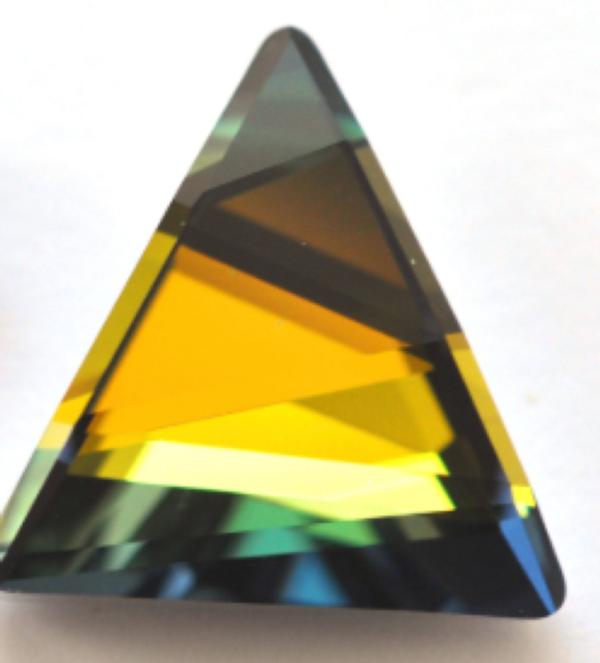 Swarovski 4717 Delta Fancy Stone Crystal Sahara 21.5mm