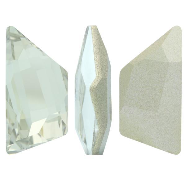 Swarovski 4719 Graphic Trapeze Fancy Stone Crystal Silver Shade 26x12mm