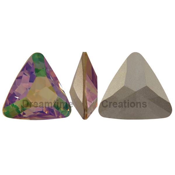 Swarovski 4727 Triangle Fancy Stone Crystal Purple Haze 23mm