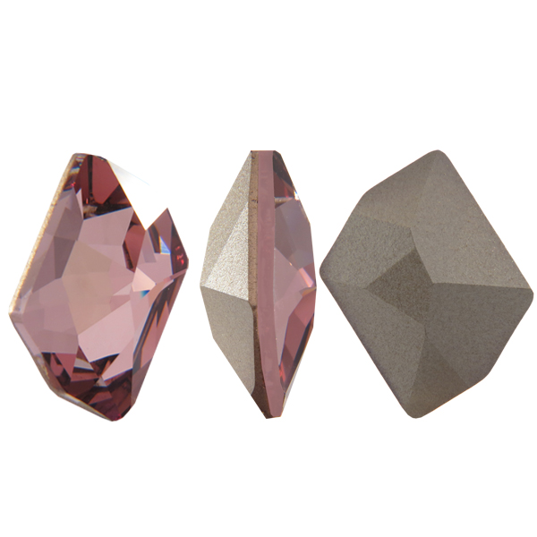 Swarovski 4739 Cosmic Fancy Stone Crystal Antique Pink 14x11mm