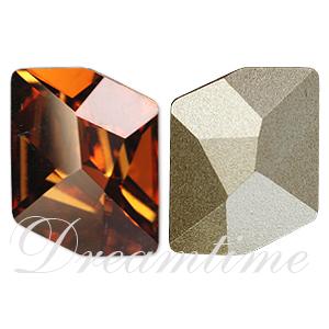 Swarovski 4739 Cosmic Fancy Stone Crystal Copper 20x16mm