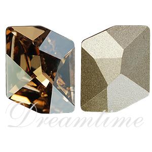 Swarovski 4739 Cosmic Fancy Stone Crystal Golden Shadow 20x16mm