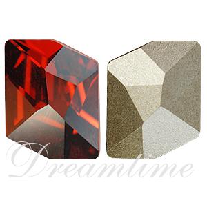 Swarovski 4739 Cosmic Fancy Stone Crystal Red Magma 14x11mm
