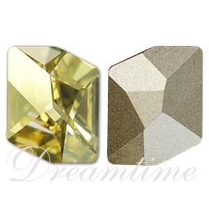 Swarovski 4739 Cosmic Fancy Stone Crystal Lemon 14x11mm
