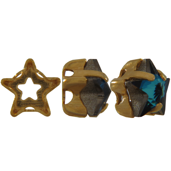 Swarovski 4745S Setting for Star Fancy Stone Gold 5mm