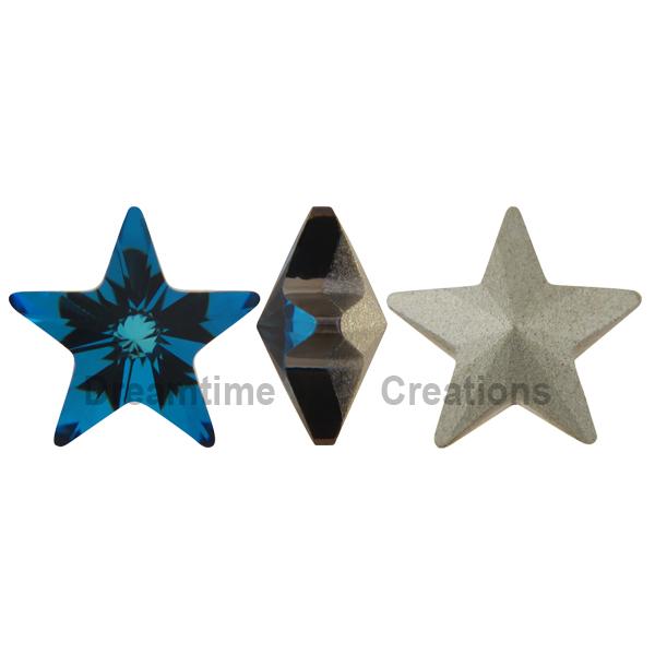 Swarovski 4745 Star Fancy Stone Crystal Bermuda Blue 10mm