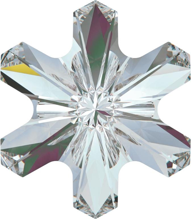 Swarovski 4747 Rivoli Sonwflake Fancy Stone Crystal Vitrail Light 5mm