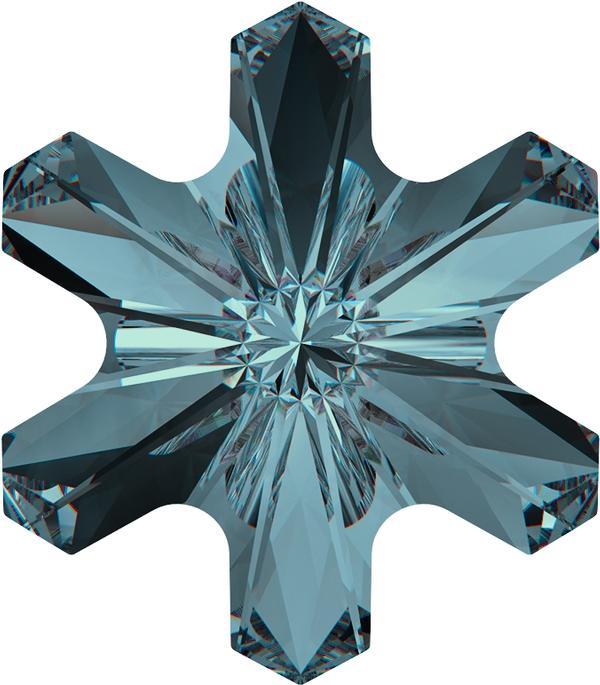 Swarovski 4747 Rivoli Sonwflake Fancy Stone Indicolite 5mm