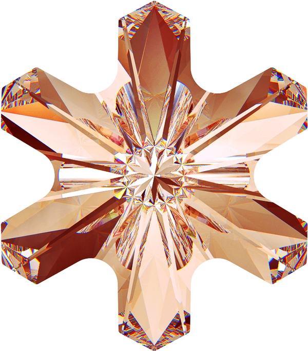 Swarovski 4747 Rivoli Sonwflake Fancy Stone Rose Peach 5mm