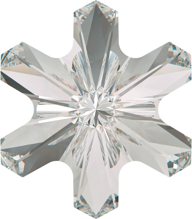 Swarovski 4747 Rivoli Sonwflake Fancy Stone White Opal 5mm
