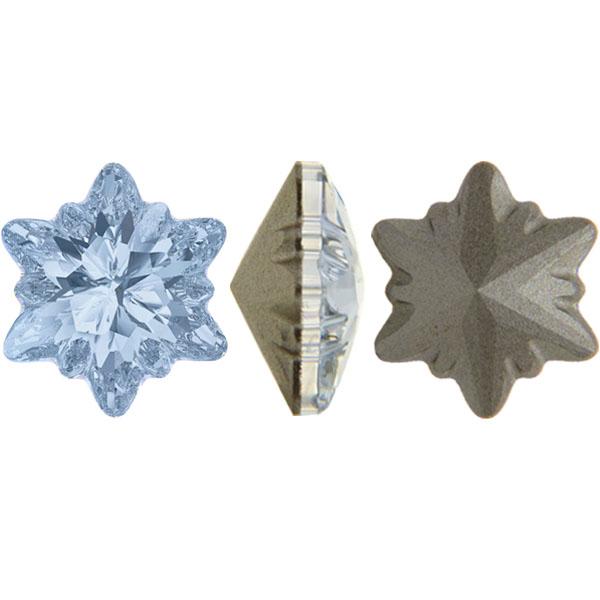 Swarovski 4753 Edelweiss Fancy Stone Crystal Blue Shade 18mm