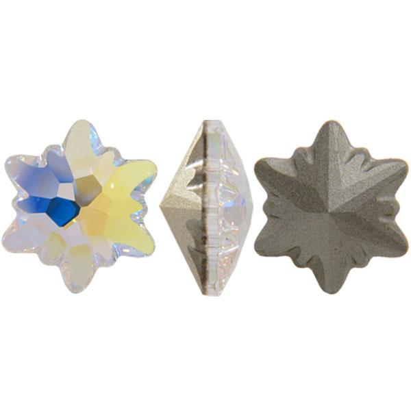 Swarovski 4753 Edelweiss Fancy Stone Crystal AB 14mm