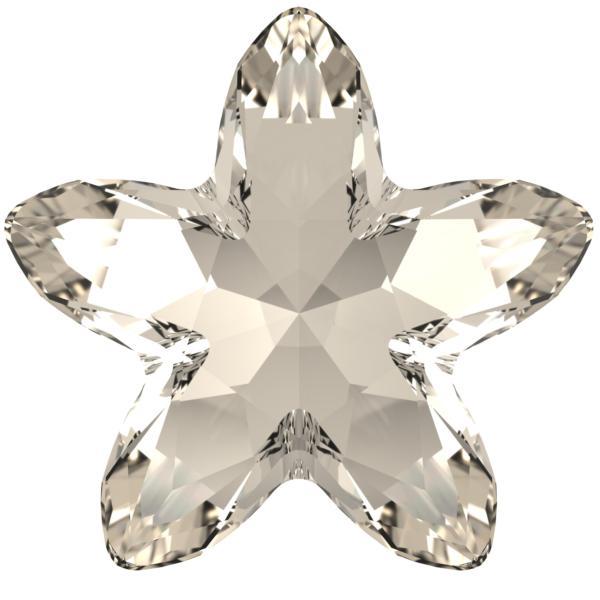 Swarovski 4754 Starbloom Fancy Stone Crystal Silver Shade 13x13.5mm