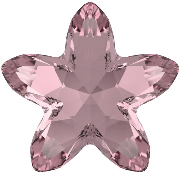 Swarovski 4754 Starbloom Fancy Stone Crystal Antique Pink 13x13.5mm