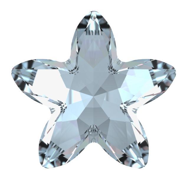 Swarovski 4754 Starbloom Fancy Stone Crystal Blue Shade 18x18.5mm