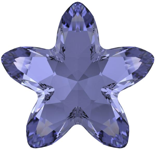Swarovski 4754 Starbloom Fancy Stone Tanzanite 18x18.5mm