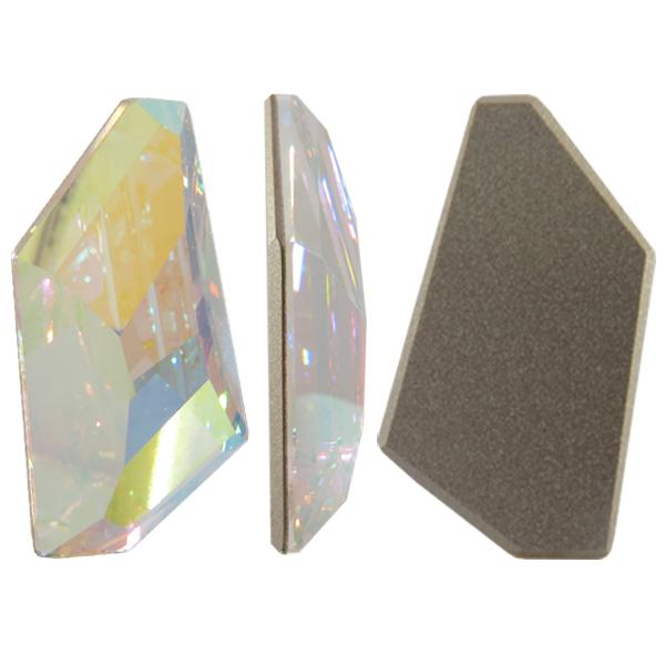 Swarovski 4766 De-Art Flat Fancy Stone Crystal AB 28x15.5mm