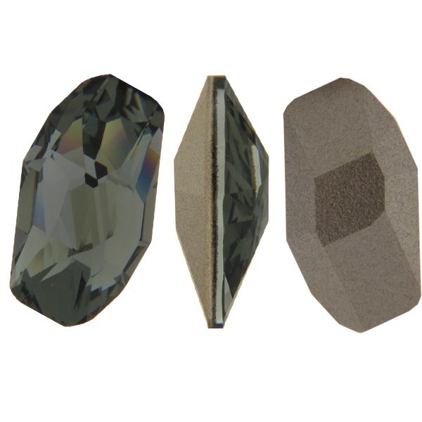 Swarovski 4773 Meteor Fancy Stone Black Diamond 14x7.5mm
