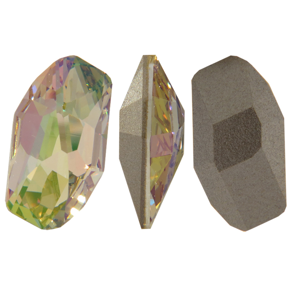 Swarovski 4773 Meteor Fancy Stone Crystal Luminous Green 28x15mm