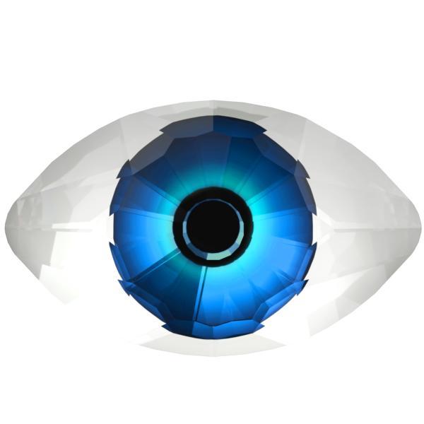 Swarovski 4775 Eye Fancy Stone Crystal Comet Argent Light & Blue 18x10.5mm