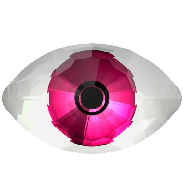 Swarovski 4775 Eye Fancy Stone Crystal Comet Argent Light & Pink 18x10.5mm
